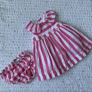 Pink & white striped dress from Mayoral